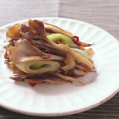 舞茸のガーリック醤油炒め