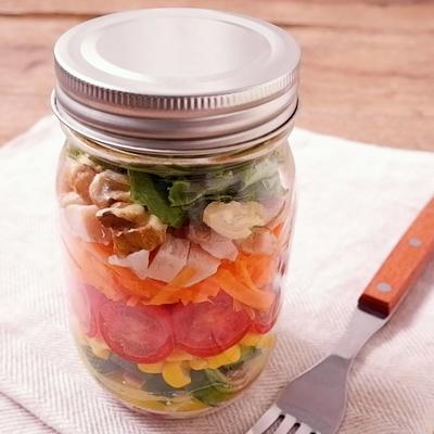 カラフル野菜でジャーサラダ