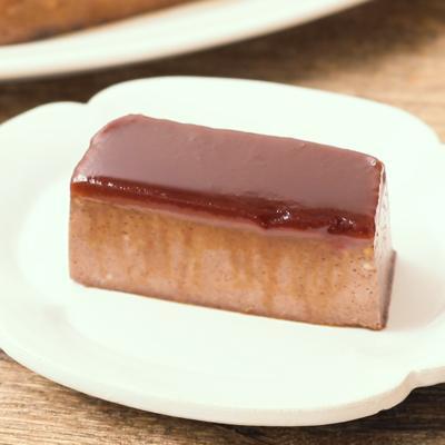 パウンド型で作るチョコレート味の堅焼きプリン