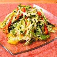 いろいろ夏野菜の青唐辛子和え