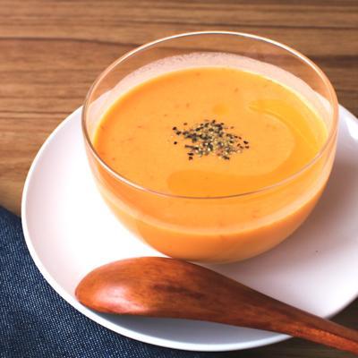 パプリカとにんじんの冷製ポタージュスープ