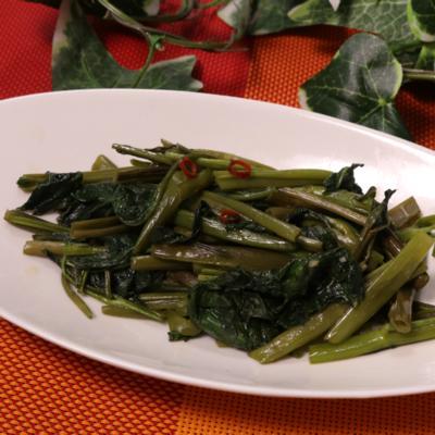 タイの屋台の味 空心菜炒め