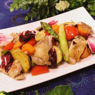 ジャガイモと鶏肉のホットサラダ
