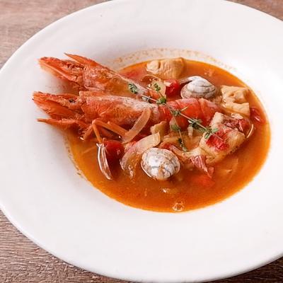 金目鯛のブイヤベース風スープ
