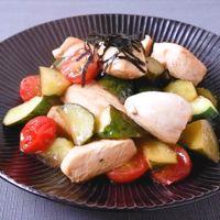 鶏むね肉ときゅうりのレモンわさび炒め