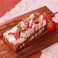 可愛さ満点!フレッシュいちごのパウンドケーキ