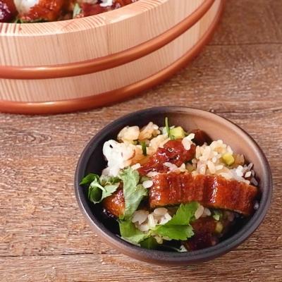 うなぎと奈良漬けのちらし寿司