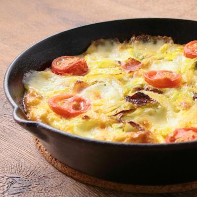 春キャベツのボリュームチーズオムレツ