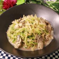 モヤシと豆苗の牡蠣バター醤油