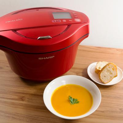 お鍋1つで簡単なめらか 角切りかぼちゃの濃厚ポタージュ