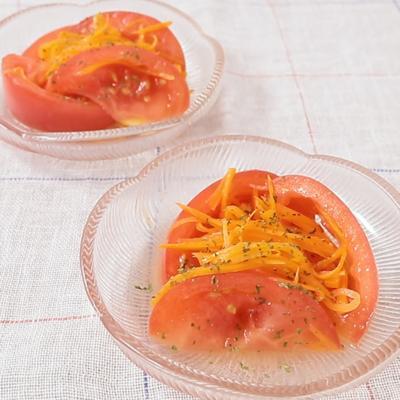 トマトとにんじんのマリネ
