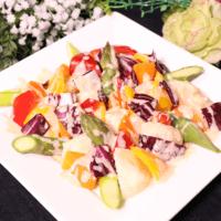 ホクホクジャガイモと彩り野菜の明太子サラダ