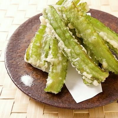 サクサクこりこり四角豆の天ぷら