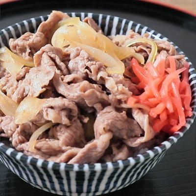 めんつゆと焼肉のタレで簡単つゆだく牛丼