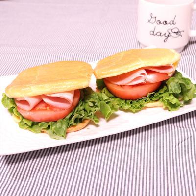 今話題!クラウドブレッドでサンドイッチ