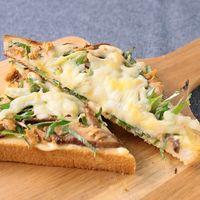 和風 きのことねぎのチーズトースト