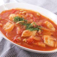 鶏むね肉と大豆のトマト煮