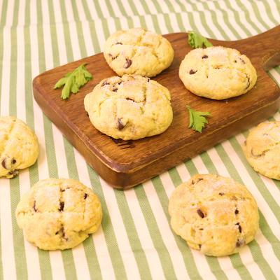 材料5つで!メロンパン風チョコチップクッキー