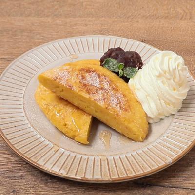 あんホイップのお手軽パン粉フレンチトースト