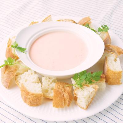 子供が喜ぶ いちごのクリームチーズフォンデュ