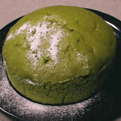フライパンで簡単!抹茶と黒豆の蒸しケーキ