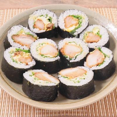 タルタルマヨのから揚げ巻き寿司