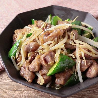 砂肝ときゅうりの中華炒め
