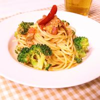 ブロッコリーとツナのトマトスパゲティ