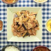 ナスと豚バラ肉のしょうが焼き