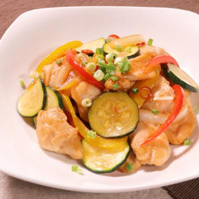 鶏むね肉と夏野菜のさっぱり甘辛炒め