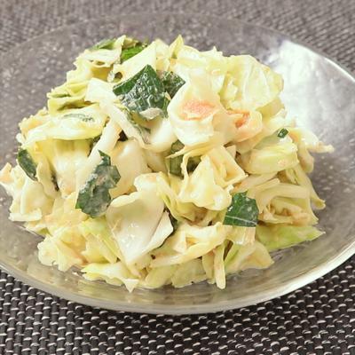 調味料3つで簡単 キャベツと明太子のマヨぽんサラダ