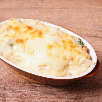 野菜たっぷり塩麹の豆乳クリームグラタン