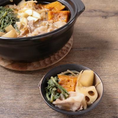 根菜たっぷり みそ味の寄せ鍋
