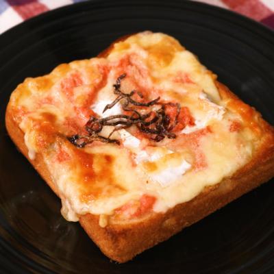 チーズ好きにたまらない  濃厚チーズと明太子トースト