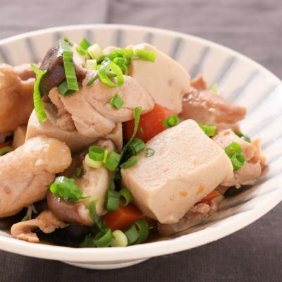 柔らかジューシー 鶏もも肉と高野豆腐の旨煮