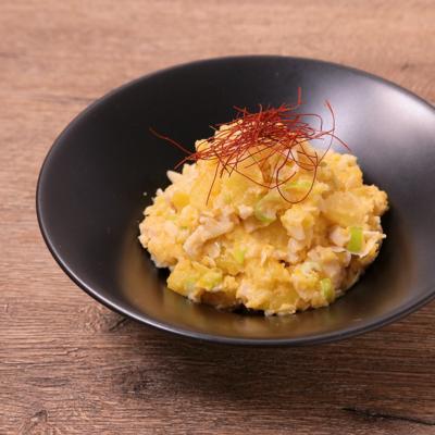 煮卵で 中華風ポテトサラダ