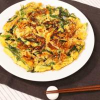 天ぷら粉で簡単! ニラチーズチヂミ