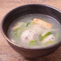 もっちり鶏団子と厚揚げの中華風スープ
