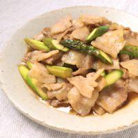 アスパラと豚ばら肉のさっぱり中華風炒め