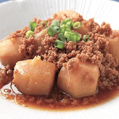 家庭料理の定番 里芋のそぼろ煮