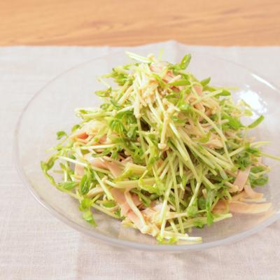 豆苗とえのきの中華サラダ