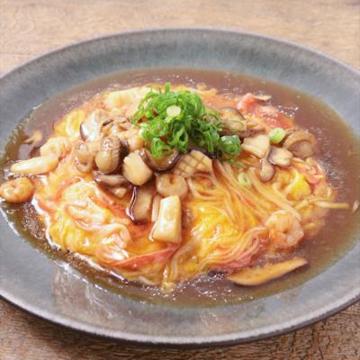 海鮮たっぷり天津飯