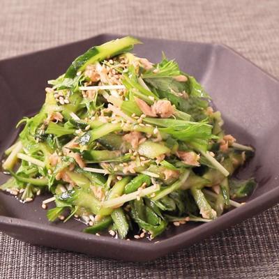 きゅうりとツナの中華風サラダ