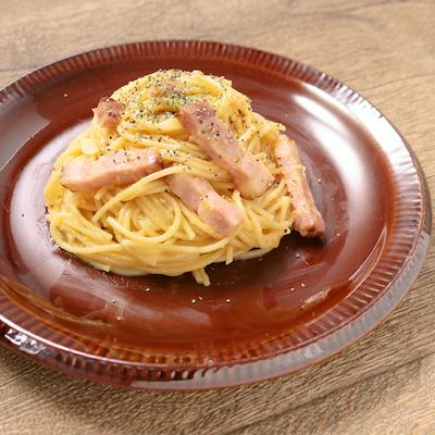 レンジで簡単 とろとろ半熟カルボナーラ