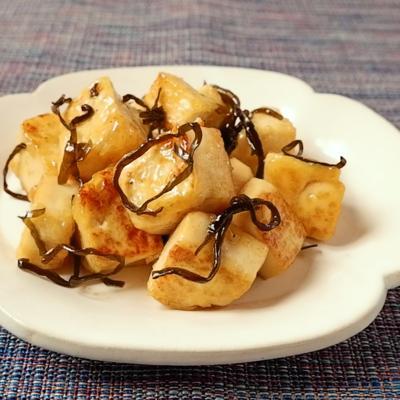 豆腐の塩昆布和え