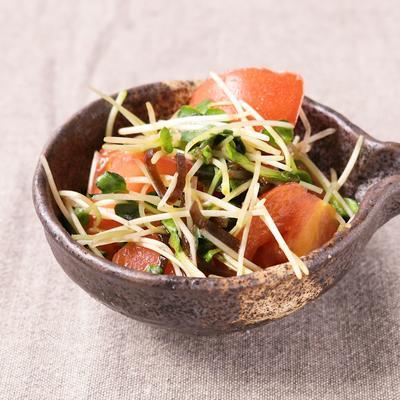 ごま油香る トマトの和風サラダ