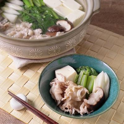 小松菜と豚バラの常夜鍋
