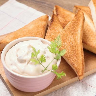 あんチーズクリームのディップトースト