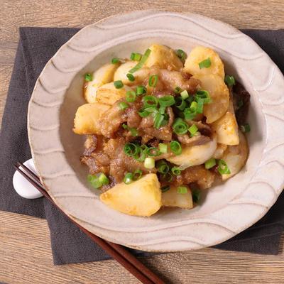 カブと豚バラの味噌バター炒め