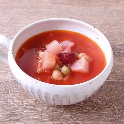赤かぶとミックスビーンズのスープ